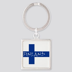 Finnish Flag Keychains