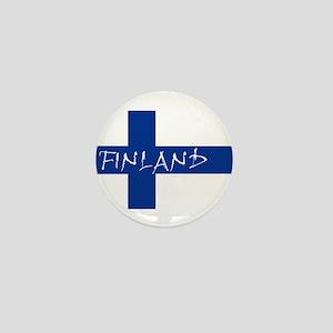 Finnish Flag Mini Button