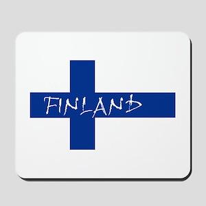 Finnish Flag Mousepad