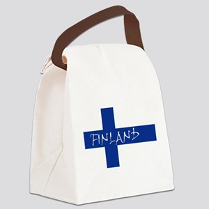 Finnish Flag Canvas Lunch Bag
