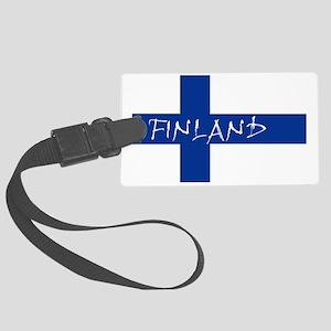 Finnish Flag Luggage Tag