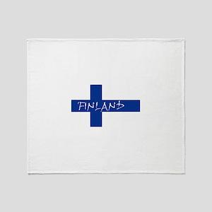Finnish Flag Throw Blanket