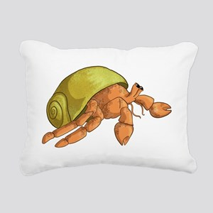Hermit Crab Rectangular Canvas Pillow