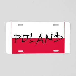 Flag of Poland Aluminum License Plate