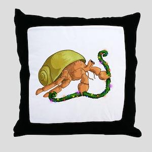 Christmas Hermit Throw Pillow