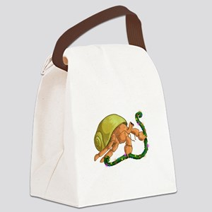 Christmas Hermit Canvas Lunch Bag
