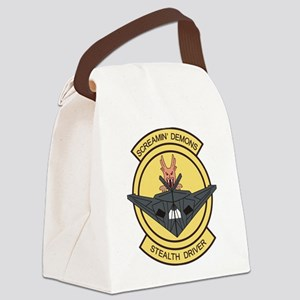 F-117 screaming demons stealth dr Canvas Lunch Bag