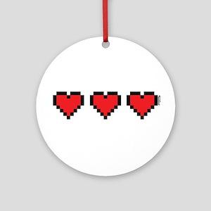 3 Hearts Ornament (Round)