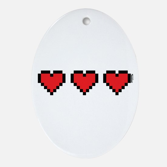 3 Hearts Ornament (Oval)