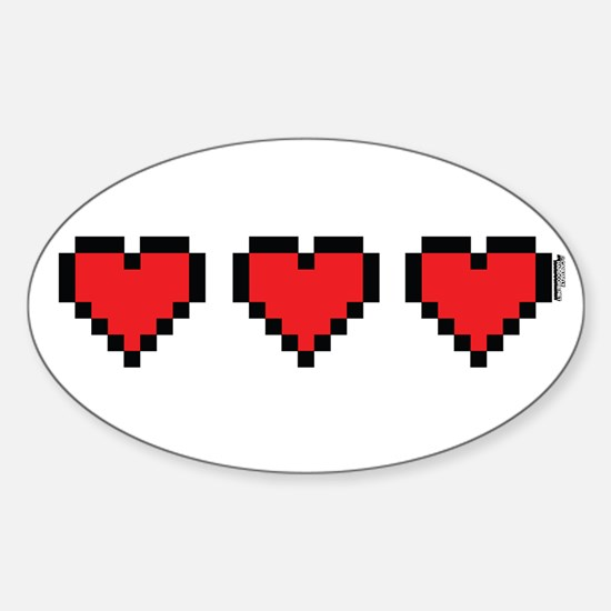 3 Hearts Decal