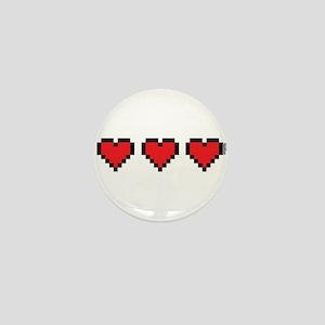 3 Hearts Mini Button