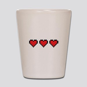 3 Hearts Shot Glass