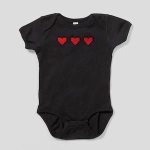 3 Hearts Baby Bodysuit