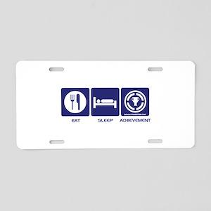 Eat Sleep Game Achievement Aluminum License Plate