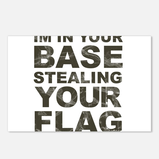 Im In Your Base Stealing Your Flag Postcards (Pack