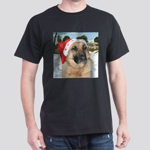 German Sherpherd Christmas Scene T-Shirt