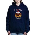 I Love Cake Women's Hooded Sweatshirt