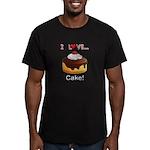 I Love Cake Men's Fitted T-Shirt (dark)
