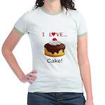 I Love Cake Jr. Ringer T-Shirt