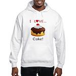 I Love Cake Hooded Sweatshirt