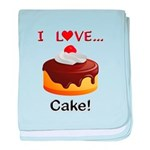 I Love Cake baby blanket