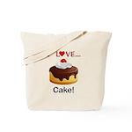 I Love Cake Tote Bag
