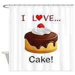 I Love Cake Shower Curtain