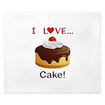 I Love Cake King Duvet