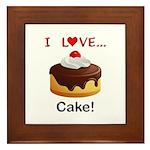 I Love Cake Framed Tile