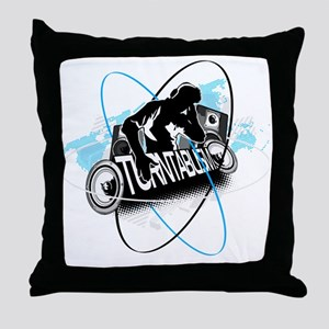 DJ Turntablism Throw Pillow