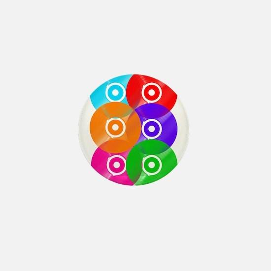 Vinyl Colors Wall Art Mini Button
