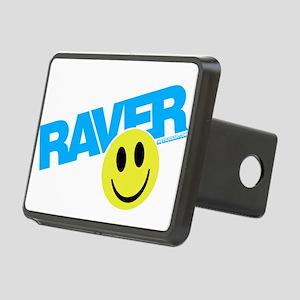 Raver Smiley Rectangular Hitch Cover