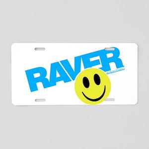 Raver Smiley Aluminum License Plate