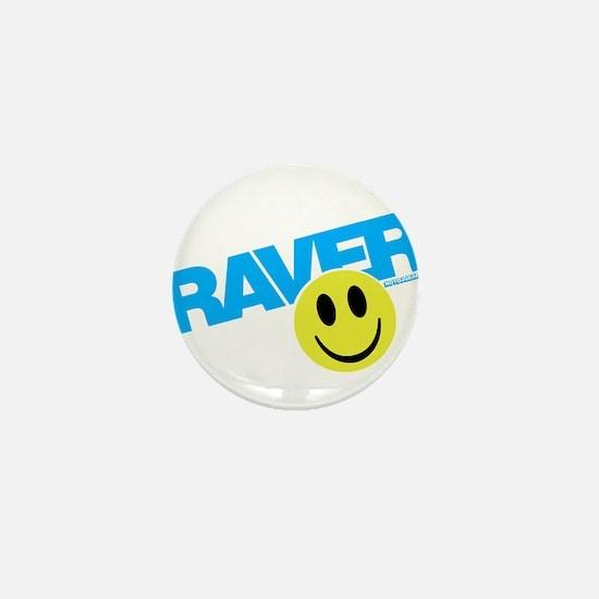 Raver Smiley Mini Button