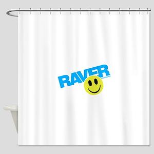 Raver Smiley Shower Curtain