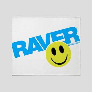Raver Smiley Throw Blanket