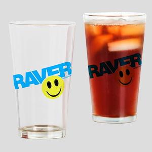 Raver Smiley Drinking Glass