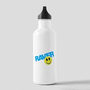 Raver Smiley Sports Water Bottle