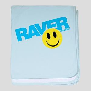 Raver Smiley baby blanket