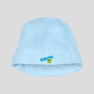 Raver Smiley baby hat