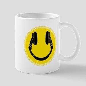 DJ Headphones Smiley Mugs