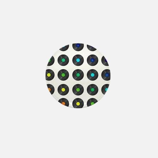 Vinyl Record Wall Art Mini Button