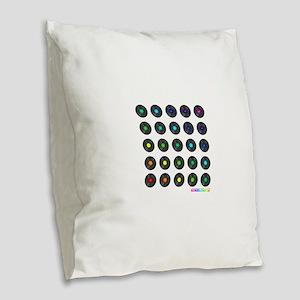 Vinyl Record Wall Art Burlap Throw Pillow