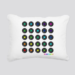 Vinyl Record Wall Art Rectangular Canvas Pillow
