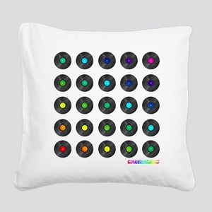 Vinyl Record Wall Art Square Canvas Pillow