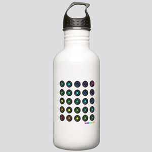 Vinyl Record Wall Art Sports Water Bottle