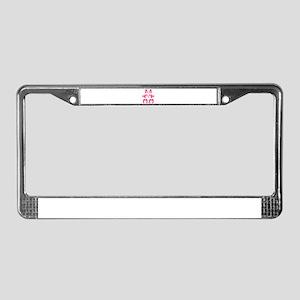 Ascii Rabbit Bunny License Plate Frame
