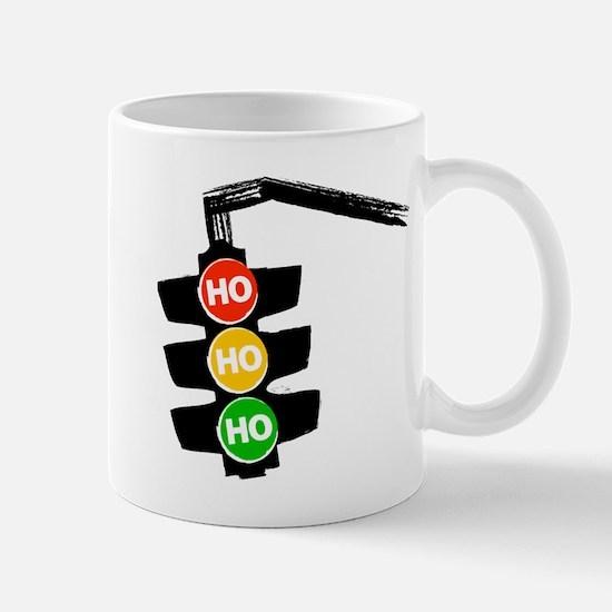 Ho Ho Ho Traffic Lights Mugs