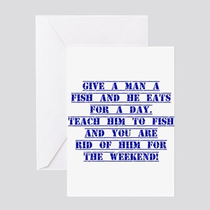Give A Man A Fish Greeting Cards