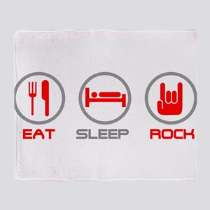 Eat Sleep Rock Throw Blanket